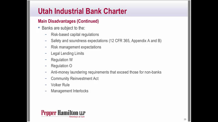 Industrial Loan Companies: Are They Back In Vogue?