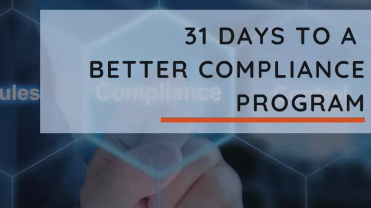 31 Days to a More Effective Compliance Program - Know Your Customer