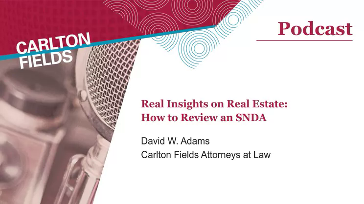 Real Insights On Real Estate How To Review An Snda Carlton Fields