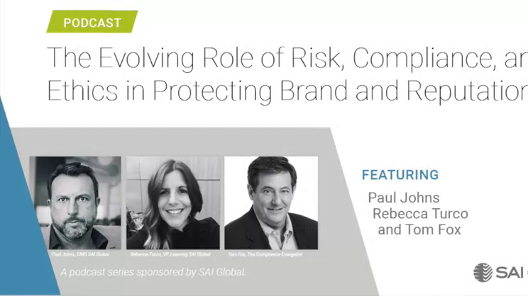 The Evolving Role of Risk, Compliance, and Ethics: Part II-the Shifting Compliance Mindset