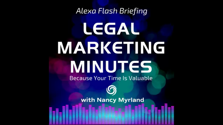 [Ep. 2] Legal Marketing Minutes Flash Briefing: Should Lawyers Copy What Other Lawyers Are Doing?