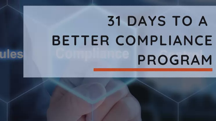 31 Days to a More Effective Compliance Program-Day 17 | Managing your third parties