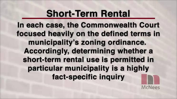 regulation of short term rentals in pennsylvania