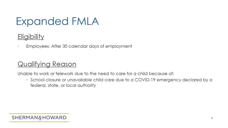 Family First Coronavirus Response Act (FFCRA): Paid Sick Leave and Expanded FMLA