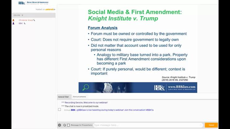 [WEBINAR] Social Media Meets the First Amendment